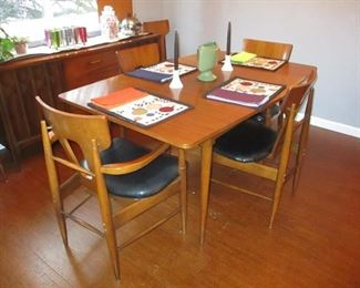 Stunning Mid-Century Modern Furnishing  Mid-Century Modern Dining Room Suite Complete with Buffet