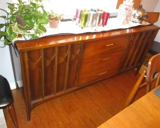 Mid Century Modern 1960's Kent Coffey Perspecta Walnut Credenza Sideboard Buffet