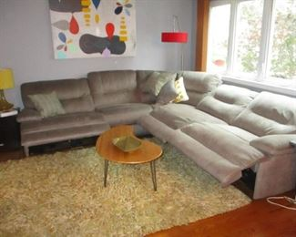 Macy's Sectional Sofa Recliner Like New