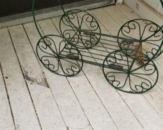 Small outdoor tea cart