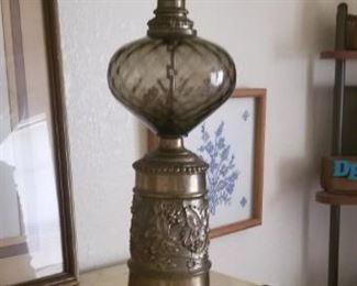 Green Glass retro lamp