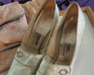 Vintage golden women's shoes
