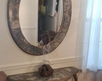 Light weight console table and mirror