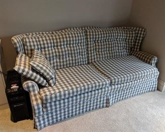 checkered sofa couch