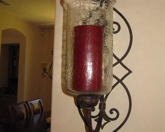 Iron candle sconce