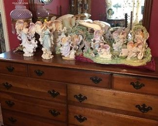 Dresser with mirror and more angels