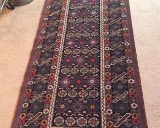 Beautiful Turkish Shirvan rug (runner), 3 x 9 ft.
