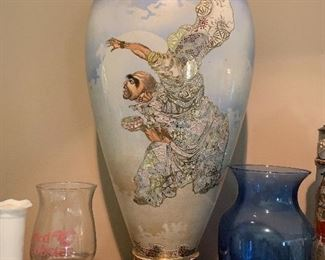 Hand painted porcelain vase - appraised