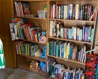 Books and more books, many brand new.  Lots of childrens books and classics