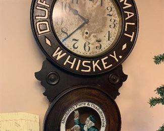 Duffys pure malt WHISKEY clock
