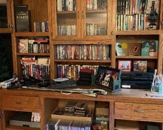 Entertainment Center / DVD's / CD's / and more