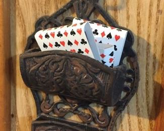 Cast iron match holder