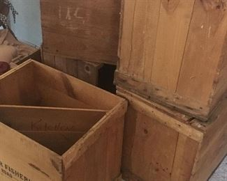 Vintage overseas shipping crates