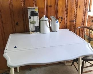 Enamel drop leaf table