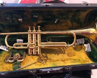 Gold plated trumpet