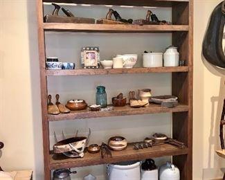 Hand made wooden shelf unit
