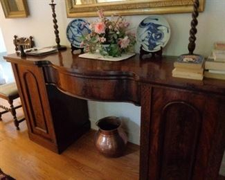 desk/ buffet? rich mahogany piece