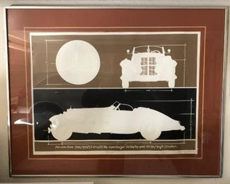 Mercedes 540K 1936 Embossed Lithograph Signed by Roy Williams https://ctbids.com/#!/description/share/165433
