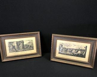 "Piranesi ""Views of Italy"" Etchings - Set of 2 https://ctbids.com/#!/description/share/165442"