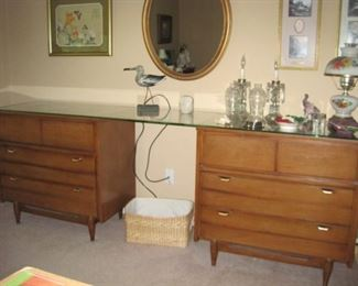 Pair of MCM Chests and Dresser