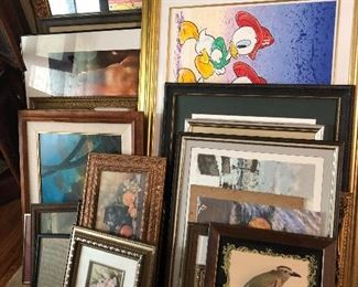 Lots of great original art and prints.  Front bird pic pulled by owner