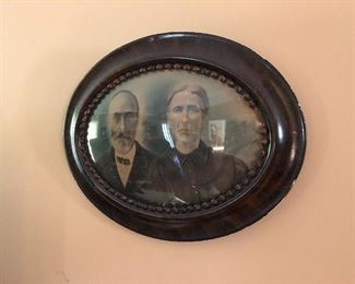 great old photo with beveled glass
