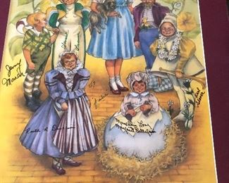 Signed to owner by each of the munchkins from Wizard of Oz
