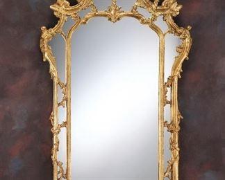 389 Castela Gold Leaf Italian Hand Carved Mirror