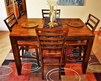 EXPANDABLE HIGH TOP DINING TABLE