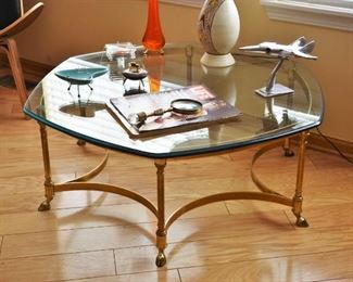 LEBARGE SOLID BRASS COFFEE TABLE 2 OF 2
