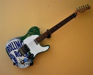 ROLLING ROCK FENDER GUITAR 1 OF 50 ISSUED