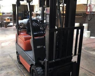 ForkLift  and it PURRS LIKE A KITTEN! CHECK OUT the  VIDEO!  Please bring the proper vehicle to transport.  LESS than 8 thousand hours, 1993,  ALL PAPERWORK AVAILABLE. WILL HELP LOAD for FREE. Just back up to the dock. Well cared for. INCREDIBLE CONDITION.  WATCH the VIDEO and SEE FOR YOURSELF!