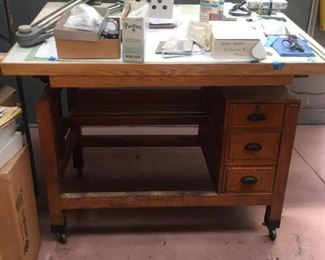Vintage Drafting Table Perfect for ARCHITECT or PROP use. MINT