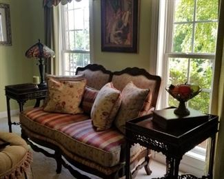 Beautifully upholstered furniture!  Drapery will be for sale also!