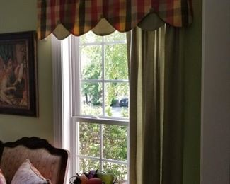 All Window treatments will be for sale!