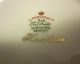 Franconia Krautheim Selb Bavaria Germany China Hawthorn