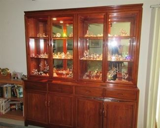 fabulous rosewood lighted cabinet