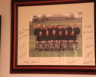 Jack Nicklaus Ryder Cup team signed