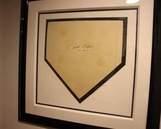 Pete Rose signed base