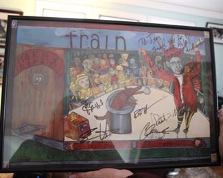 Train band signed poster