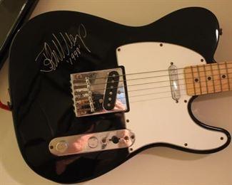 John Mellencamp signed guitar