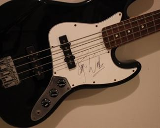 Roger Waters signed guitar