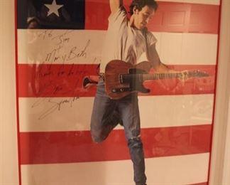 Springsteen signed poster