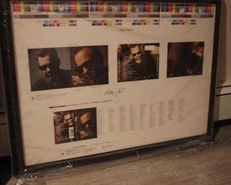 Billy Joel signed album cover art