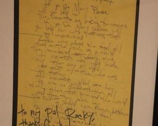 Sponge Have you Seen Mary lyrics signed
