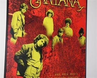 Santana signed poster