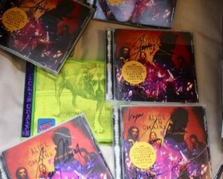 Alice in Chains signed CD's