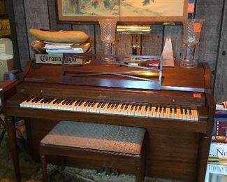 Baldwin Acrosonic piano & bench