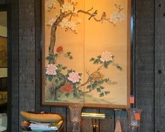 Oriental silk panel