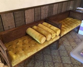 Two small setee / bench